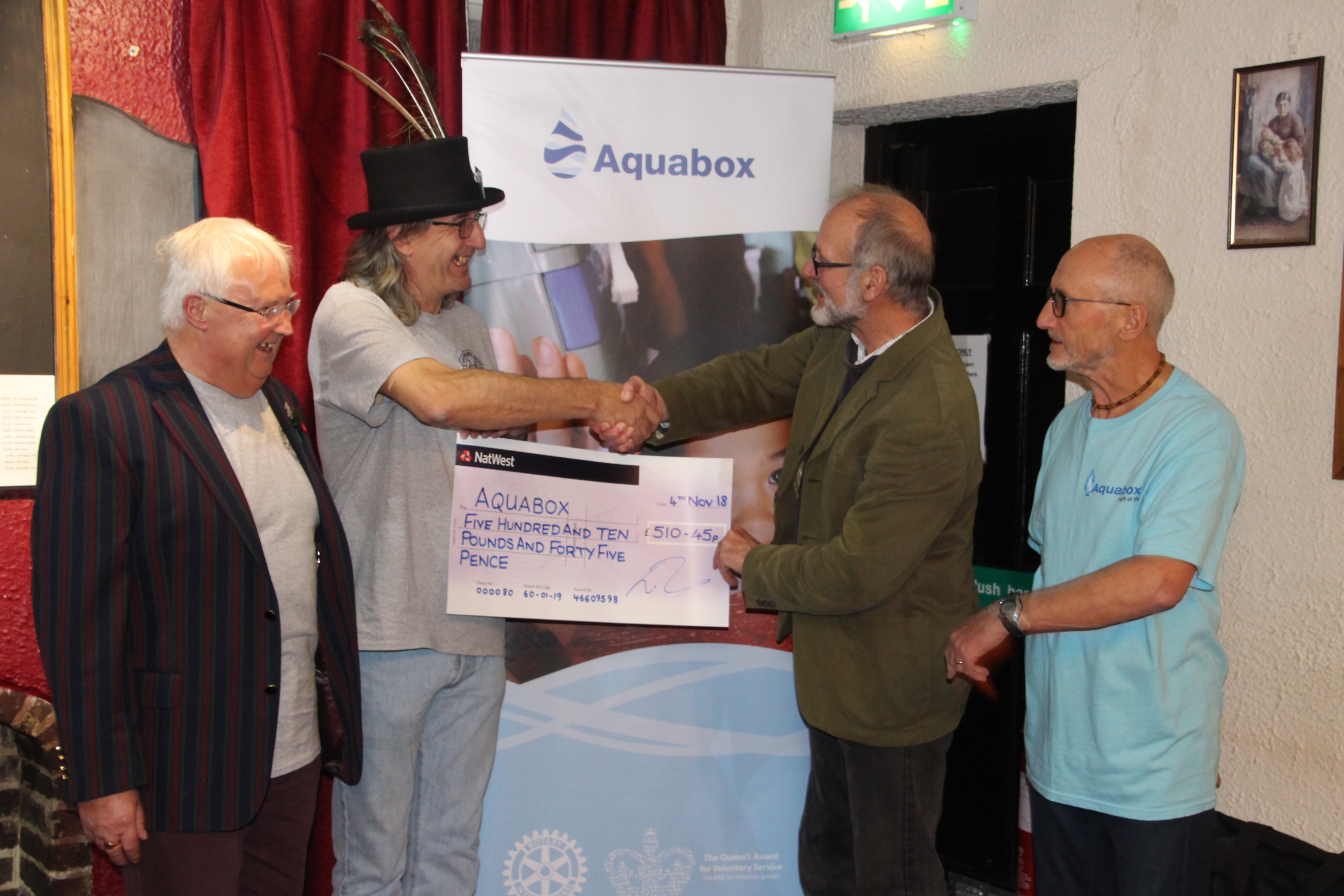 Ashbourne CAMRA Cheque Presentation